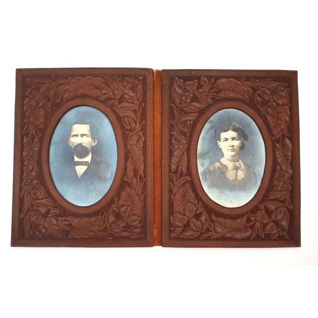 Image of Antique Tooled Leather Photo Album