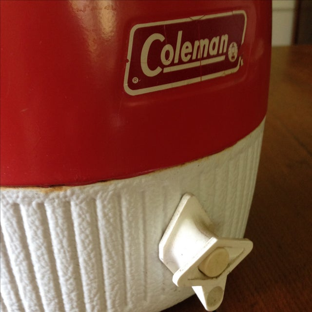 Vintage Red Metal & Plastic Coleman Cooler - Image 10 of 11