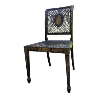 Antique Painted Cane Side Chair