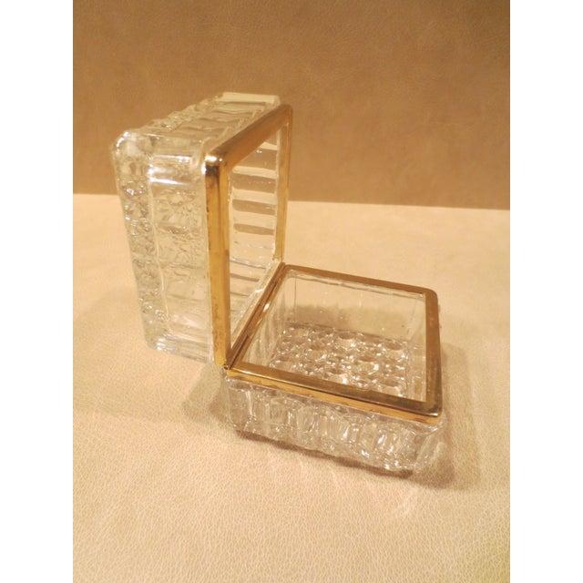Vintage 1970s Beyer Crystal Glass Vanity Box - Image 4 of 7