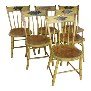 Set of Six Slat-back Windsor Side Chairs