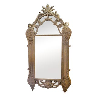 Regencey-Style Grand Scale Painted Mirror