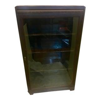 Vintage Mahogany Book Shelf Cabinet
