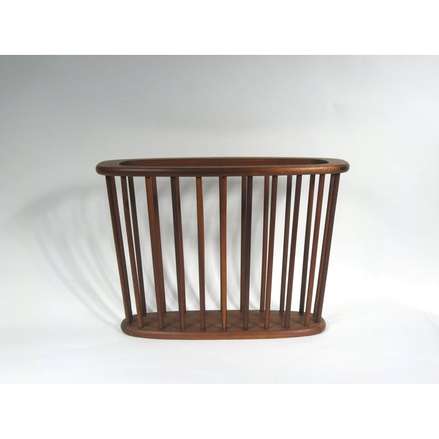 Mid Century Walnut Magazine Rack - Image 4 of 4