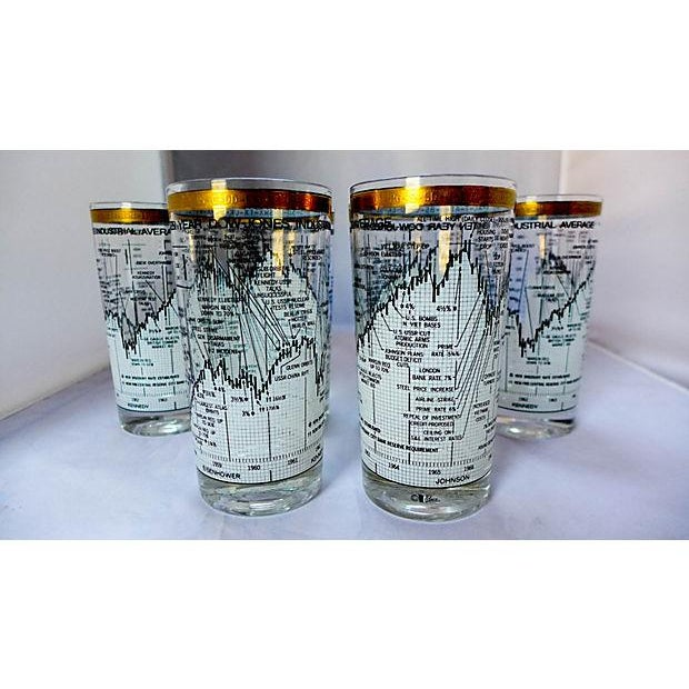 Neiman Marcus Stock Market Glasses - Set of 6 - Image 2 of 6