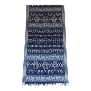 Handwoven Ikat Ayam Throw From Indonesia
