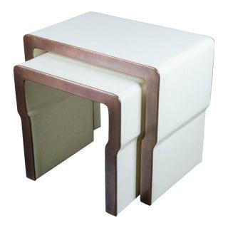 Cintura Nesting Table (Set of 2) - Cream Lacquer & Copper