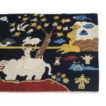 Image of Tibetan Handmade Elephant/Monkey Rug - 4′4″ × 6′7″
