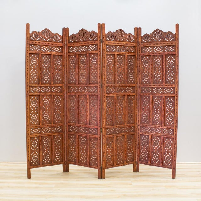 African Handcarved Wooden Room Divider Chairish