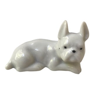Porcelain French Bulldog Figurine
