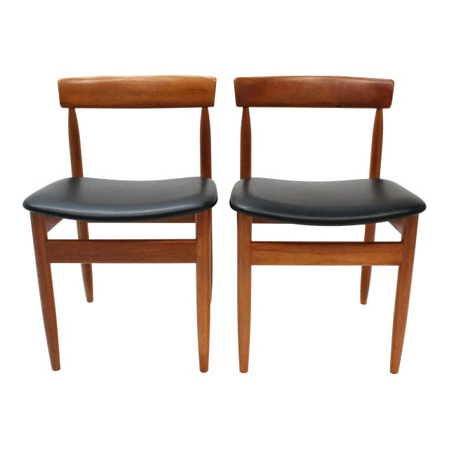 1977 Mid-Century Danish Style Teak Chairs - A Pair - Image 1 of 6