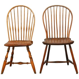 American Bow-Back Windsor Chairs - A Pair