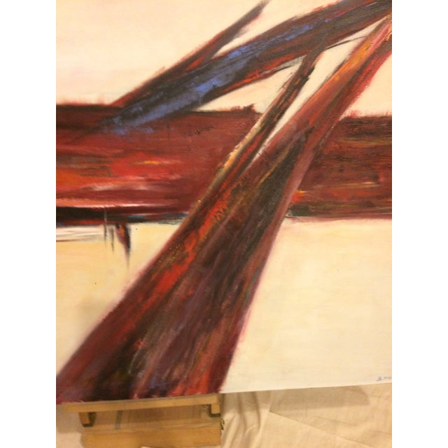 Image of Vintage Modernist Abstract Oil on Canvas