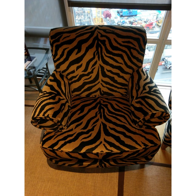 Tiger Print Chairs - Pair - Image 5 of 8