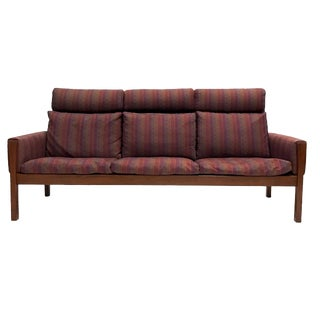 Hans Wegner for A.P. Stolen High Back Teak Frame Sofa