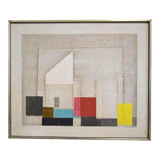 "C. 1967 Norio Azuma ""Image No.7."" Color Serigraph"