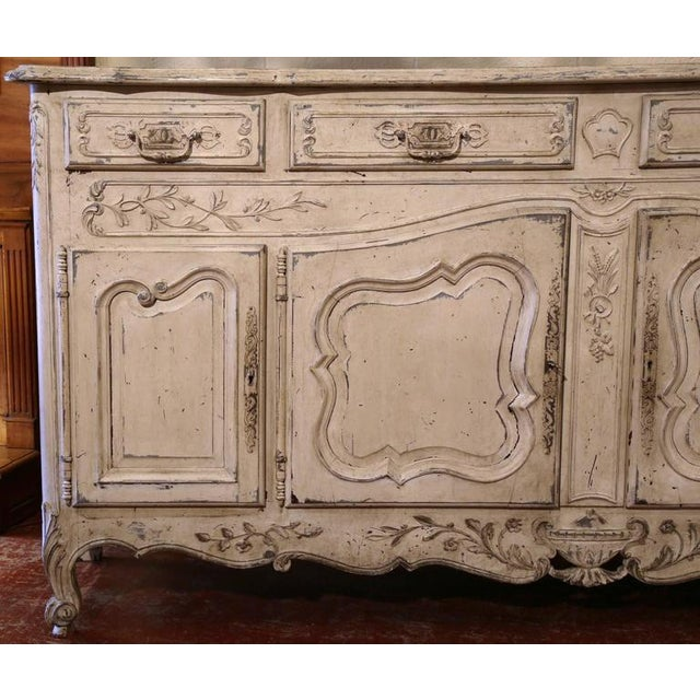 Early 20th Century French Louis XV Carved Painted Buffet - Image 4 of 9