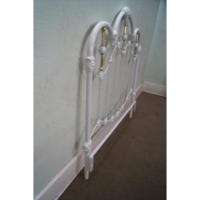 Painted Iron Brass Victorian Full Size Headboard - Image 3 of 10