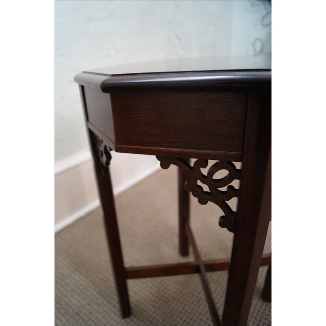 Madison Square Mahogany Chippendale Tables - Pair - Image 9 of 10
