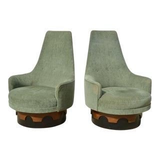 Adrian Pearsall Swivel Chairs - A Pair