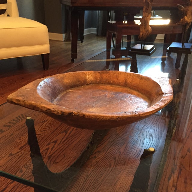 Vintage African Wood Bowl - Image 2 of 5