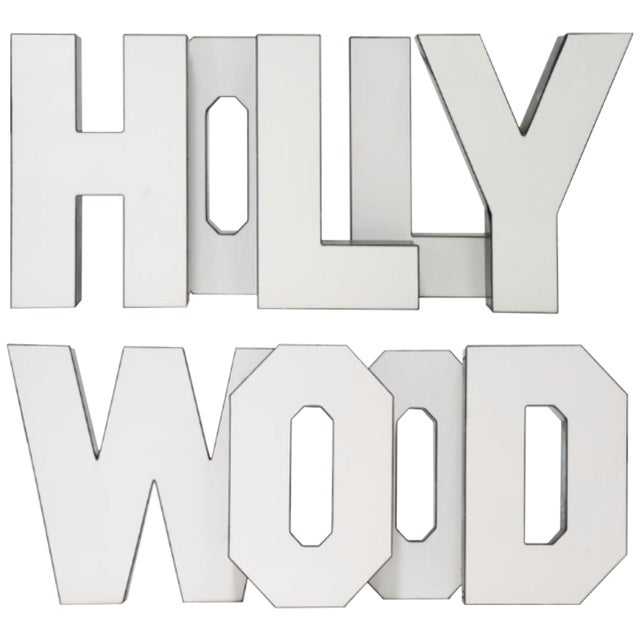 "Vintage ""Hollywood"" Letters - Set of 9 - Image 1 of 5"