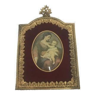 Antique French Gilded Bronze Frame