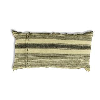 Vintage Hemp Black & Cream French Stripe Pillow