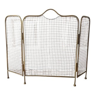 English Brass Fireplace Screen