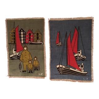 Seafaring Linen Prints - A Pair