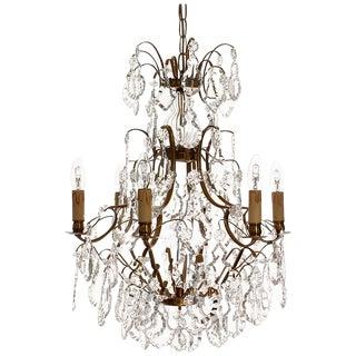 Baroque Chandelier, 6 Cognac Electrical Candles