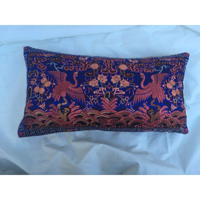 Silk Crane Boudoir Pillow - Image 3 of 4