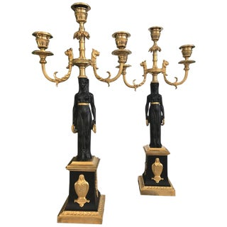 Pair of Empire Candelabra in Egyptian Motif