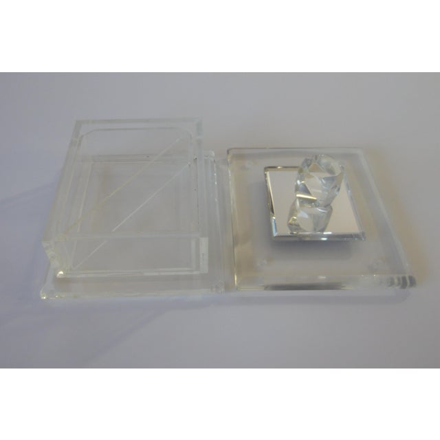 Handcrafted Art-Deco Clear Lucite Jewelry Box - Image 5 of 8