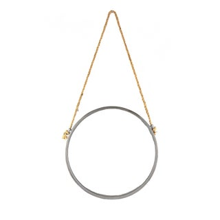 Metal & Knotted Rope Circular Wall Mirror