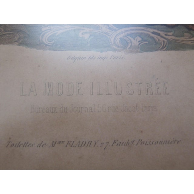 Image of Antique French Fashion Prints - A Pair