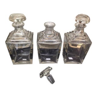 Art Deco Thick Crystal Decanters