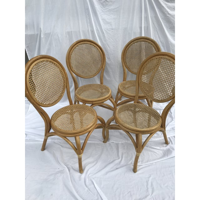 Sheet Cane Bentwood Bistro Chairs - Set of 4 - Image 4 of 10