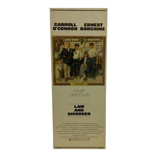 """Vintage 1974 Movie Poster """"Law and Disorder"""""""