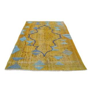 Traditional Handwoven Area Rug - 3′10″ × 7′3″