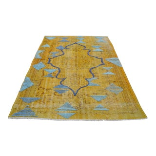 Traditional Handwoven Area Rug - 3′10″ × 7′3″