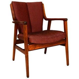 Gunlocke Mid-Century Solid Walnut Side Armchair
