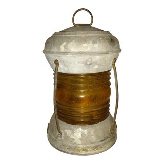 Amber and Metal Industrial Railroad Light