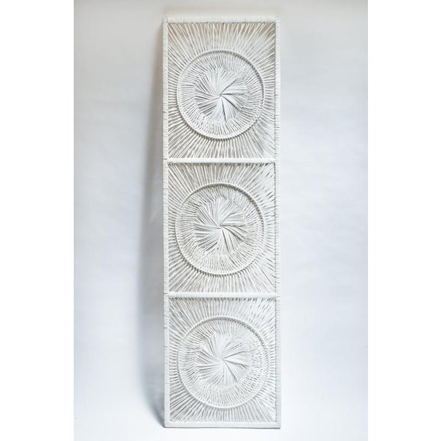 Boho Chic White Wicker Wall Decor - Image 2 of 4