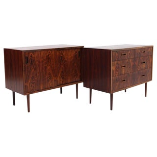 Danish, Mid-Century Rosewood Chest of Drawers and Cabinet by Lyby Møbler