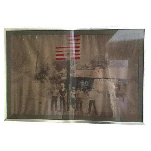 American Boys in the 70's Framed Painted Photo - Image 1 of 4