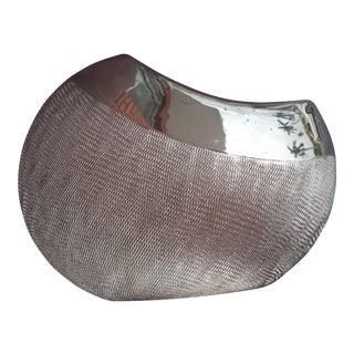 Vintage Silver Metal Vase