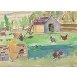 Image of Watercolor & Sketch Atributed to Helen Forbes