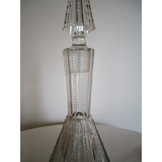 Image of Vintage 1930s Cut Crystal Decanter