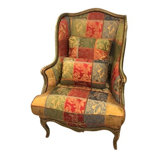Wonderful Large Antique Wing Chair